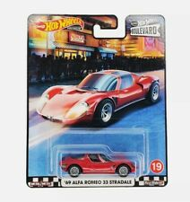 New Listing2020 Hot Wheels - Premium - Boulevard - '69 Alfa Romeo 33 Stradale - Red - New