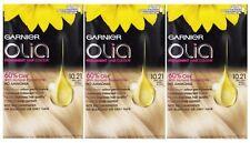 3 X Garnier Olia Permanent Hair Colour 10.21 Very Light Pearly Blonde
