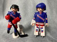 Playmobil Hockey Figures Lot of 2 NHL Rangers
