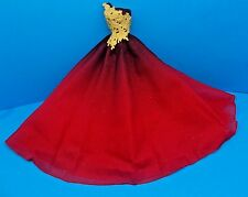 2016 BARBIE HOLIDAY DOLL EVENING GOWN MODEL MUSE COLLECTOR RED OMBRE DRESS ONLY