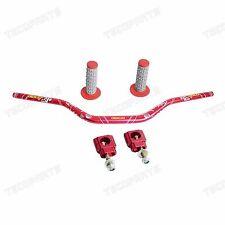 CNC 28mm Handlebar Fat Bar Grips Mount Clamps for Honda CR125R/250R CRF250R/450R