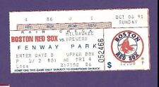 10/6/1991 Milwaukee Brewers @ Boston Red Sox Baseball Ticket Stub