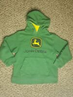 John Deere Boys Green Pullover Hoodie Size 5 Nothing Runs Like A Deere