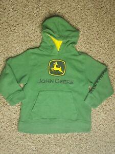 John Deere Boys Fleece Hoody Zip Front Poly Hooded Sweatshirt