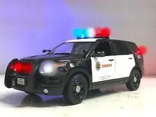 SHERIFF/Police Ford PI SUV 1/18 WORKING Lights SIREN Los Angeles LAPD LASO Ut