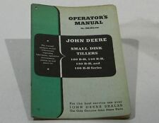 John Deere Operators Manual Small Disk Tillers