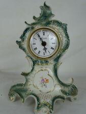 Wunderschöne antike DDR Ostalgie Porzellan Kaminuhr Tisch Uhr im florem Design