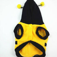 Yellow Black Pet Bee Apparel Coat Hoodie Costume Outfit Clothes Puppy Fancy Dog