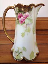 Antique Vtg Rosenthal Madeleine Handpainted Porcelain Pink Rose Chocolate Pot