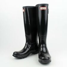 NIB HUNTER Black Original Tall Gloss Rain Boots Shoes Size US 9 UK 7 EU 40