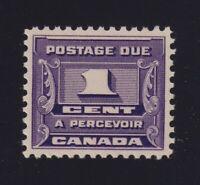Canada Sc #J11 (1934) 1c dark violet Postage Due Mint VF NH MNH
