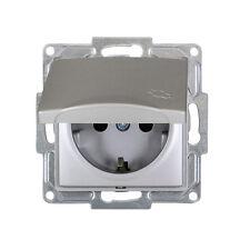 Gunsan Visage Steckdose mit Deckel Unterputz Silber 01281500252117