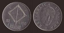 100 LIRE 1974 GUGLIELMO MARCONI - ITALIA Q.FDC/aUNC QUASI FIOR DI CONIO