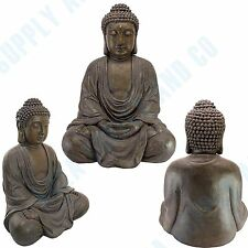 "MEDIUM Buddha Garden Statue Meditative Outdoor Zen Thai 26"" Sculpture Decoration"