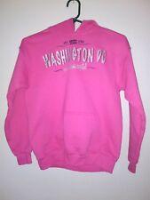 Girls Size L Pink Washington DC Hoodie Hooded Sweatshirt