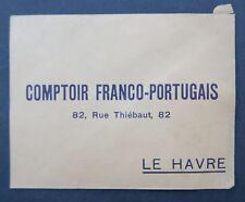 Enveloppe publicitaire COMPTOIR FRANCO-PORTUGAIS LE HAVRE