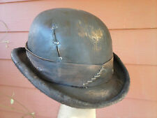 Steampunk Goth Industrial Victorian Leather Bowler Derby Hat Custom