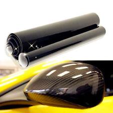 "5D Black Carbon Fiber Vinyl Ultra Shiny Gloss Glossy Wrap Sticker Decal 12""x60"""