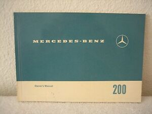 MERCEDES-BENZ OWNER'S MANUAL 200 EDITION A