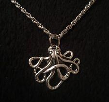 """Pequeño Pulpo Collar Colgante Cadena de 19"""" plata encanto animal inusual Steampunk UK"""