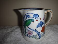 Antique Booths Green Parrot Silicon China Milk Jug Cream Jug before 1922 England