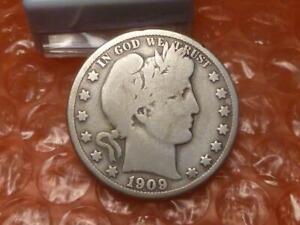 1909 O Barber Silver Half Dollar Part Liberty 925,000 Minted KEY DATE #2C