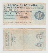 100 liras 1976 banca antoniana di Padova e Trieste Italia-cheque - 0248