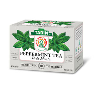 Tadin Peppermint Tea. Soothes & Improves Energy. Herbal Blend. 24 Bags. 0.85 oz