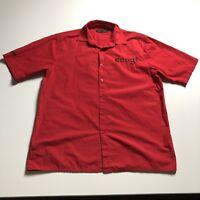 Coogi Men's Red Black Button Down Shirt Short Sleeves XXL 2XL Logo Embroidery