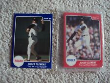 1987 STAR CO ROGER CLEMENS SET + PROMO BOSTON RED SOX (13 CARDS)