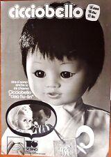 CICCIOBELLO pubblicità tratta da Il Giornalino anni '70 advertising