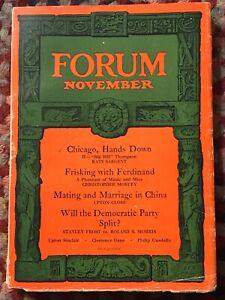 Forum November 1927 Vol 78 No 5 RARE Poetry & Prose Magazine Upton Sinclair