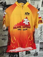 Voler Women Inland Inferno Cycling Bike Bicycle Jersey Fire Large L Made in USA