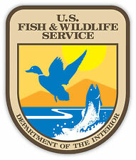 "US Fish and Wildlife sticker decal 4"" x 5"""
