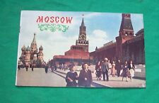 VTG COLD WAR ERA IN TOURIST MOSCOW RUSSIA TRAVEL SOUVENIR BOOK PAPER PHOTO GUIDE
