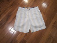 LULULEMON MENS kahuna shorts in orange and grey white plaid size 34