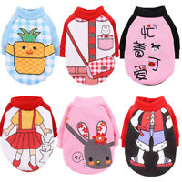 Cute Cartoon Pet Clothes for Small Dogs Autumn Winter Hoodie Warm Cat Dog Coat