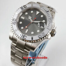 40mm Bliger sterile gray dial sapphire glass oyster strap automatic mens watch