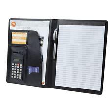 Black A4 Pvc Conference Folder Business Document Case Portfolio