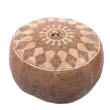 Orientalisches Ledersitzkissen Leder Poufs marokkanische Kissen Hocker Orient na