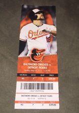 Unused Baltimore Orioles Gameday Ticket - 5/15/16 VS Detroit Tigers
