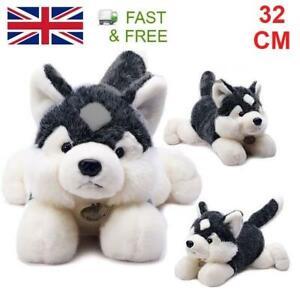 32cm Amangs Siberian Husky Dog Puppy Cuddly Plush Soft Toy Cute Animal Gift Cute