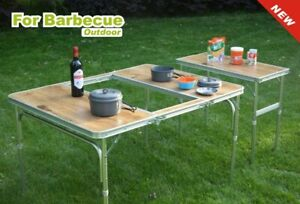 Folding Camping Table Outdoor Picnic BBQ Table Aluminium Light - 24HR Delivery