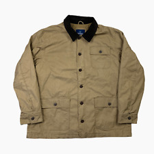"New Mens Old Navy Padded Field Hunting Jacket Coat 3XL XXXL 58"" Cotton Cord Tan"