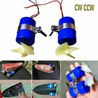 RC Jet Boat Underwater Motor Thruster 16800RPM CW CCW 3-Blades Propeller Upgrade