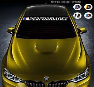 For Bmw M PERFORMANCE Car VINYL STICKER Windshield BANNER JDM DECAL Windscreen