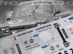 Scalextric/Slot Car 1/24 'Alan Mann Racing' Waterslide Decals. ts022_w