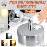 12V Interior LED Reading Spot Light Wall Lamp Switch RV Caravan Motorhome   / #