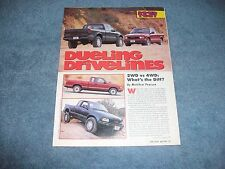 "1996 GMC Sonoma 2WD 4WD Pickups Road Test Info Article ""Dueling Drivelines"" S10"