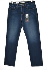 Womens Levis SHAPING STRAIGHT 314 Dark Blue Premium Stretch Jeans 14 W32 L32 NEW